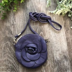 Purple flower mini bag